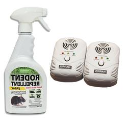 Harris Ultrasonic Pest Repeller and 20 oz. Rodent Repellent