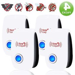 Qiwoo  Ultrasonic Pest Repeller, 4 Pack Ultrasonic Electroni