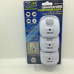 Bell & Howell 3-Pack Ultrasonic Pest Repellers with Night Li