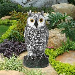 US Large Fake Owl Decoy Hunting Deterrent Bird Pigeon Cat Cr