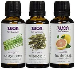 3-Pack Variety of NOW Essential Oils: Mosquito Repellent Ble