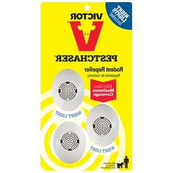 Victor Petchaser Rodent Repeller W/ Night Light Max coverage